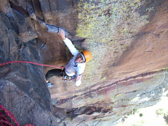 Rock Climbing Photo: Bart on P3 of Vertigo.