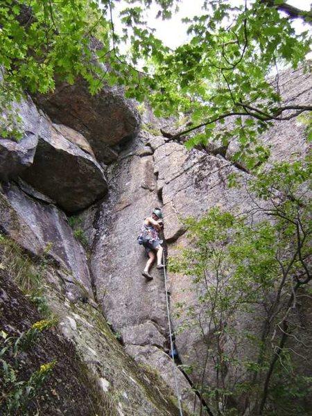 Rock Climbing Photo: Tom Lane sending the route.