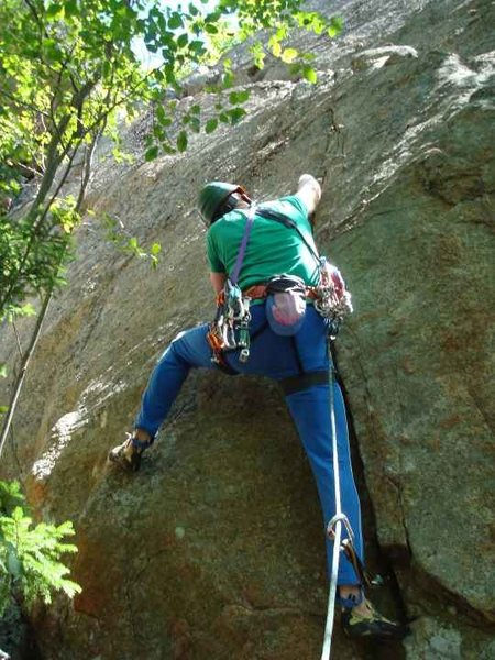 Rock Climbing Photo: Tom Lane sets out to send the line.