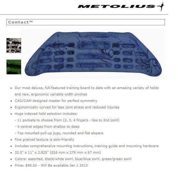 Metolius Contact Board
