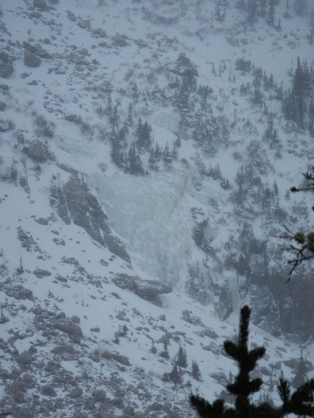 Rock Climbing Photo: Icefall below Notchtop N face.