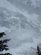 Rock Climbing Photo: Ice below Notchtop N Face -- Grace Falls?