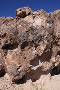 Rock Climbing Photo: V3 The Shield - Topout is a little sketch but othe...