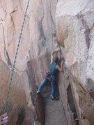 Rock Climbing Photo: Eugene working through Devils Ice Box beta.