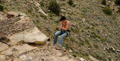 Rock Climbing Photo: First rappel 2010
