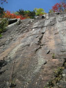 Rock Climbing Photo: The final moves through the headwall on Do Me A So...