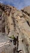 Rock Climbing Photo: Chandler starting off the long classic!