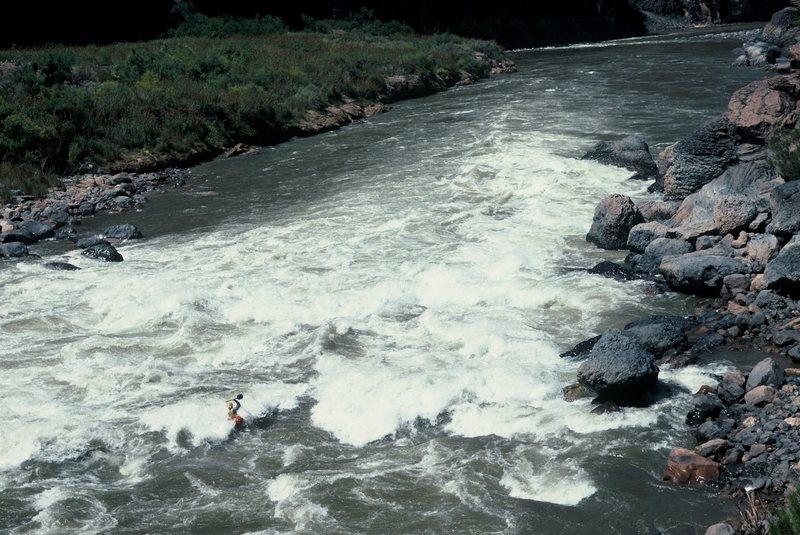 Rock Climbing Photo: Yhaooo! Lava Falls