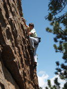 Rock Climbing Photo: Jackie climbing the route.