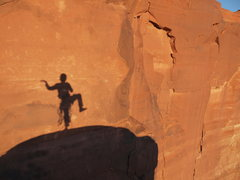Rock Climbing Photo: Summit of The Cenotaph Spire.  Moab.