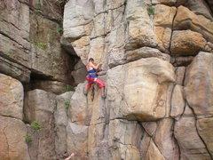 "Rock Climbing Photo: Jennifer climbing ""Detention"""