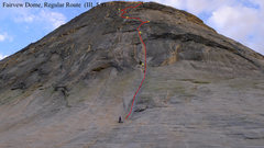 Rock Climbing Photo: Regular Route fromt the base of the route