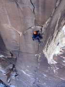 Rock Climbing Photo: Cranking through the bird shit section. November 2...