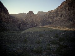 Rock Climbing Photo: The sunsets on Mescalito and another great Novembe...