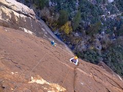 Rock Climbing Photo: Andy and Allison following the super cool third pi...