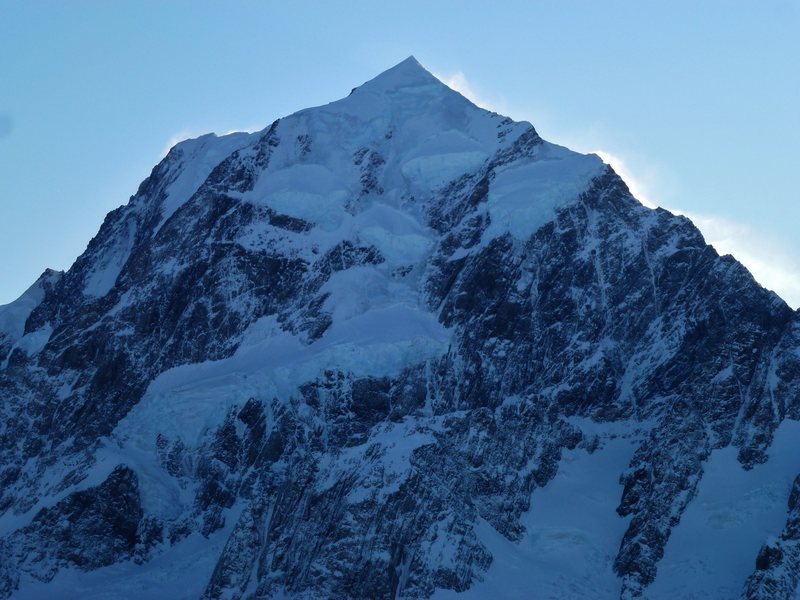 Rock Climbing Photo: Mt cook viewed from across the Tasmin Glacier whil...