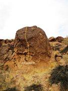 Rock Climbing Photo: More Smack Far Left Topo