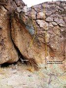 Rock Climbing Photo: More Smack Boulder Center Topo
