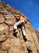 Rock Climbing Photo: Opposing side-pulls give access to the final trick...