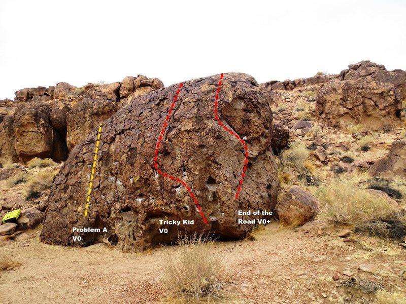 Rock Climbing Photo: Wayko Boulder Topo