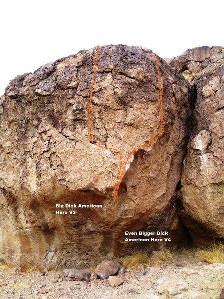 Topo Gun Boulders Left Topo