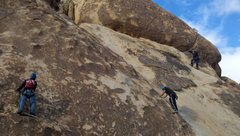 Rock Climbing Photo: Climbers on the Indian Palisades Corridor during a...