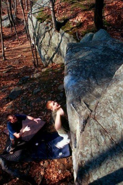 Rock Climbing Photo: Going big...