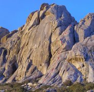 Rock Climbing Photo: The right side of Penon Blanco with topo for Mi Fl...