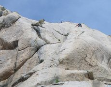 Rock Climbing Photo: high up the route