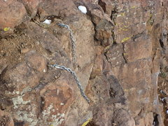 "Rock Climbing Photo: The ""Long"" chains at the anchor!"