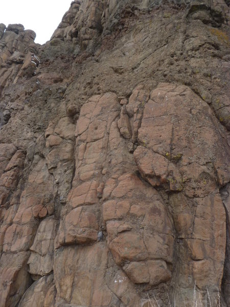Rock Climbing Photo: The climb, in the center of the photo.  The first ...