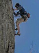 Rock Climbing Photo: Gnarles climbing up the Squirrel Deck