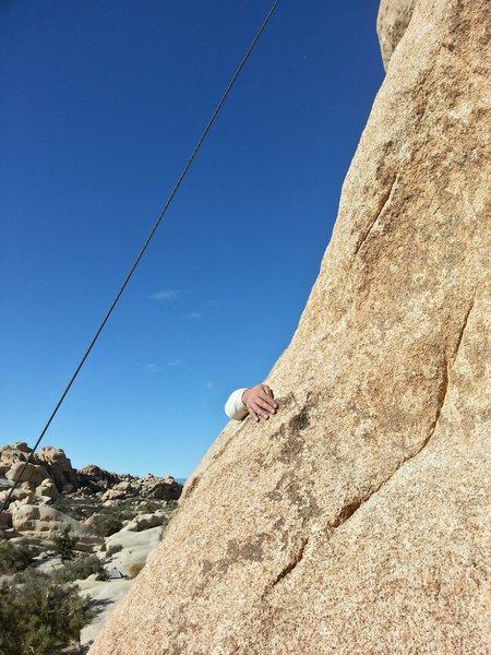 Rock Climbing Photo: Hands off.