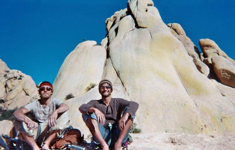 Rock Climbing Photo: Cochise Stronghold—me on the left