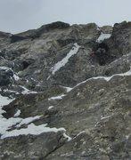Rock Climbing Photo: 2nd pitch m-6/7. (Oprah's Minge)