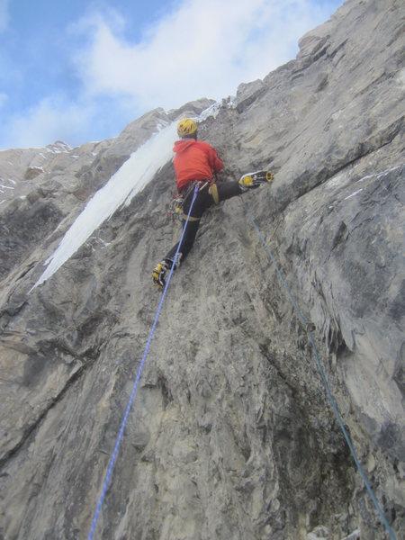 Rock Climbing Photo: 3rd pitch m-6