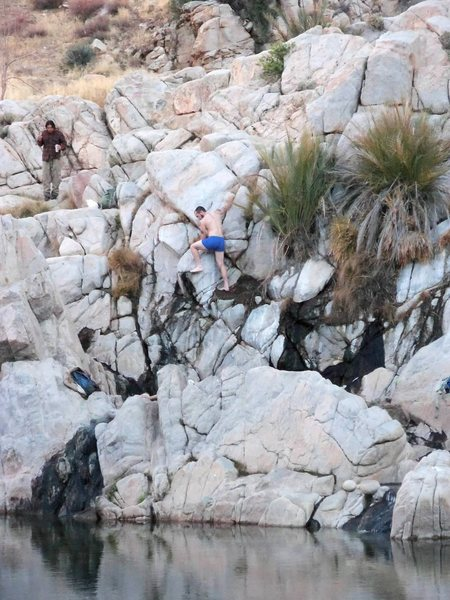 Rock Climbing Photo: Climbing the wax boulder problem