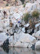 Rock Climbing Photo: Climbing the wax boulder problem