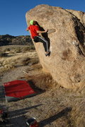 Rock Climbing Photo: Ciotti pulling through the scoop on Unnamed V4 jus...