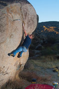 "Rock Climbing Photo: Matt Hallman working the diagonal seam on ""Se..."