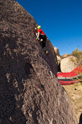 Rock Climbing Photo: Ciotti on the Unnamed V3 slab on the Chocoholic Bo...