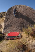 Rock Climbing Photo: Hallman sending the fun slab moves on Chocoholic (...