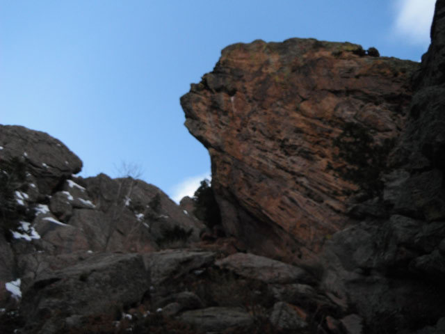 Rock Climbing Photo: HTT is around left side of the arete.
