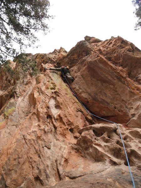 Rock Climbing Photo: Exit right after gaining ledge.