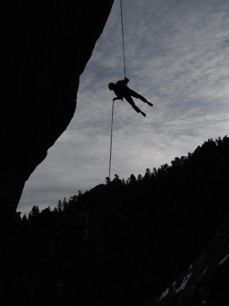 Rock Climbing Photo: George B. rapping HTT.