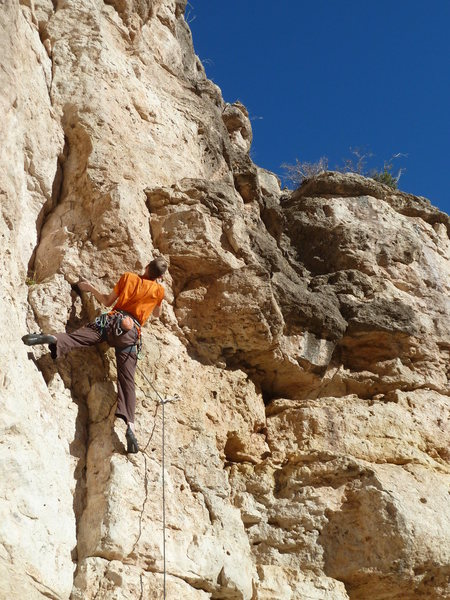"Rock Climbing Photo: Jason enjoying the warm winter climbing on ""F..."