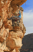Rock Climbing Photo: Amy Jordan cruising to the big rest jug Eternal Su...