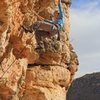 Amy Jordan cruising to the big rest jug<br> Eternal Sunshine (5.12-)