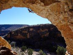 Rock Climbing Photo: Wild looking climbing.