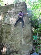 Rock Climbing Photo: Sam Weir on the Standard Bowers Arete V5 - Ghostow...